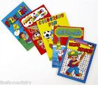 Mini A6 Activity Books, Kids Party Bag Filler Choose Quantitiy, 6 Designs