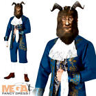 Men's Beast Costume Beauty and the Beast Disney Book Week Adults Fancy Dress