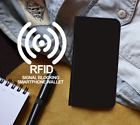 RFID Protected Black Smartphone Wallet Leather Case Cover for Galaxy S Series