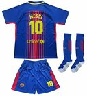 Barcelona #10 Lionel MESSI Home Kids Soccer Jersey & Shorts Youth Sizes
