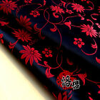 Lotus Flower Chinese Dress Baby Clothes Kimono Cos Silk Satin Sewing Fabric