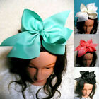 10 Inch Boutique Grosgrain Ribbon Bow Girls Hairpins Big Bowknot Hair Clips