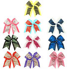 8 Inch Big Sequin Cheer Bows Clips Bling Girl's Cheerleading Hair Bow Boutique