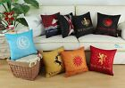 Pack of 2 CaliTime Reversible Cushion Covers A Game of Ice and Fire Home 45cm