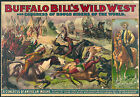 Photo Print Vintage Poster: Buffalo Bill Wild West Act 16