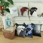 Pack of 2 Cushions Cover Pillow Shell A Game of Thrones Houses Stark Winter 45cm