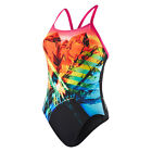 Neu! Speedo Prismstorm Placement Digital Rippleback Schwimmen Badeanzüge Damen