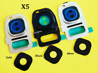 Lot of 5 Camera Lens Glass Back Frame Cover Holder For Samsung Galaxy S7 G930