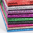 Meter / A4 Chunky Glitter Fabric Faux Leather Vinyl Decor Wallpaper Material