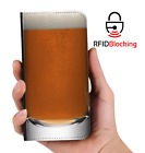 RFID Protected Beer Glass PU Leather Wallet Custom Case Cover for Apple iPhone