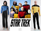 New Star Trek TNG The Next Generation Jumpsuit Costume Red Gold Blue Cosplay