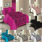 5PCS FRILLED FLOCK QUILTED BED SPREAD FRILLED PILLOW CASES CUSHION COVERS