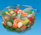 40 x CLEAR PLASTIC DISPOSABLE BOXES 125mm x 125mm x 95mm SALAD FRUITS FOOD FISH