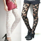NEW Spring Fashion Rose Flower Print Lace Ninty Pants Trousers Leggings One Size