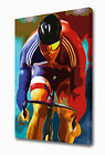 EZ1109 LARGE PURSUIT CYCLIST CANVAS PRINT