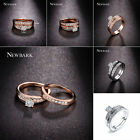 Fashion Crystal Women Lady Charm Wedding Ring Silver/Gold Plated Jewelry