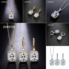 Charm Fashion Women Wedding Party Crystal Pendant Necklace Earrings Jewelry Set