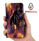 RFID Protected Taurus PU Leather Phone Wallet Case Cover for Samsung Galaxy