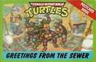 Vintage Teenage Mutant Ninja Turtle Postcard Book 1990 Greetings From The Sewer