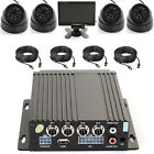 "4 Channl Car Bus IR Mobile DVR SD Card Recorder + Camera Cable 7"" LCD Screen Set"