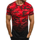 OZONEE ATHLETIC 1099 Herren T-Shirt Kurzarm Camouflage Motiv Slim Fit Shirt MIX