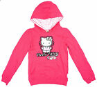 Girls Hello Kitty Cat Sequin Hearts Hoody Jumper Hooded Top 3 to 10 Years