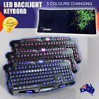 90x30cm Pc Computer Mouse Pad Ergonomic Led Backlight Usb Wired Game Keyboard