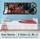 Childrens Name Wall Stickers Art Personalised Decal Spiderman for Boys Bedroom