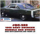 GE-QG-382 1968 DODGE DART SWINGER - GTS - BUMBLE BEE STRIPE - MOPAR LICENSED $ USD