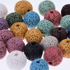 Large round Lava Beads Handmade Jewelry Earrings 1.2mm hole mixed color