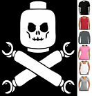 Lego skull pirate retro cool prints T-Shirts Singlets  new Aussie Store sizes