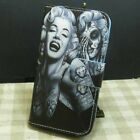 Skull Marilyn Monroe Girl with Cat Wallet Kickstand Flip case cover for LG Phone