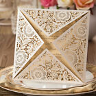 White Laser Cut Wedding Party Invitations Cards Free Personalized Envelopes Seal