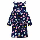 BABY GIRLS POLKA DOTS DRESSING GOWN WITH EARS, NAVY, SIZE0-2,17WT741A, RRP$22.00