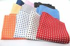 "New 10"" Inches 100% Silk Men's Pocket Square FREE SHIPPING US Polka Dot"