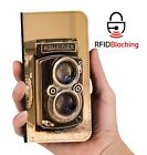 Vintage Camera Luxury Flip Cover Wallet Card  PU Leather Phone Case Stand iPhone