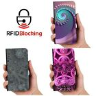Fractal Wallet Luxury Flip Cover Wallet Card PU Leather Phone Case Stand Galaxy