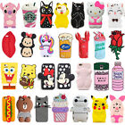 spongebob 3d - 3D Cartoon Animal Soft Silicone Phone Case Cover For Iphone 5 5S SE 6 7 Plus