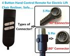 Внешний вид - 4 BUTTON HAND CONTROL REMOTE FOR LIFT CHAIR RECLINER SOFA, PRIDE,LIMOSS,OKIN,MED