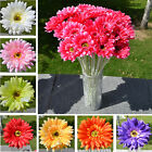 10Pcs Gerbera Daisy Artificial Flower Bouquet Silk Simulation Wedding Party Home