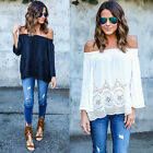 2017 Summer Fashion Women's Cotton Blouse Off Shoulder Loose Casual T Shirt Tops