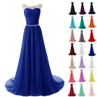 New Chiffon Long Bridesmaid Formal Ball Gown Party Cocktail Evening Prom Dresses