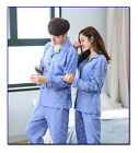 Light Blue Blend Cotton 2PCs Long Sleeves Home Wear/ Pajama Sets M/L/XL/2XL/3XL