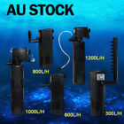 Aqua Fish Tank Aquarium Internal submersible Water Power Filter 300 600 1000 L/H