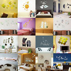 New DIY Mirror Acrylic Removable Quote Wall Sticker Decal Home Decor Art Mural