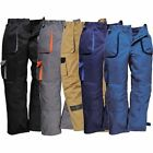 Portwest TX11 Texo Contrast Work Wear Trousers Elastic Waist Knee Pad Pockets
