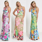 Womens Floral Print Maxi Dress one size