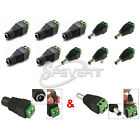 Male Female DC Power Jack Adapter Connector Plug CCTV Led Strip 3528 5050 5630 S