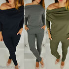 2017 Women's Off Shoulder Long Sleeve Blouse Casual Long Jumpsuit Slim Playsuit