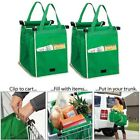 Portable Grab Bag Shopping Bag Reusable Eco Friendly Clips To Your Cart